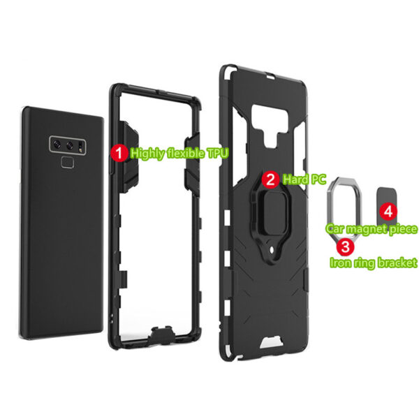 Protective Anti-slip Samsung Note 9 10 And Plus 5G Case With Ring Bracket SGN102_7
