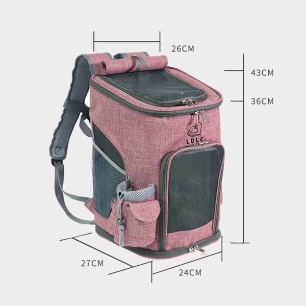 Airline Approved Backpack Pet Carrier Soft Sided Tote MFB24_6