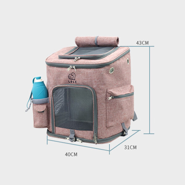 Airline Approved Plus Size Backpack Pet Carrier Soft Sided Tote MFB25_5