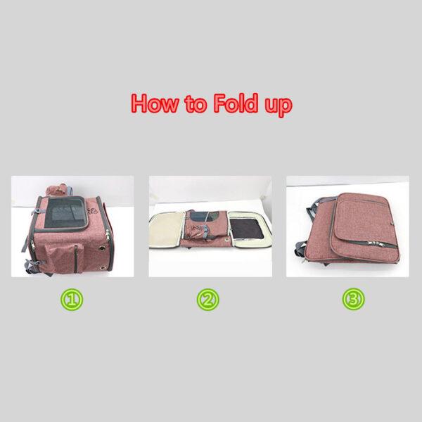Airline Approved Plus Size Backpack Pet Carrier Soft Sided Tote MFB25_6