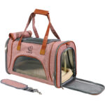 Best Leather Pet Handbag With Large Side Window MFB35