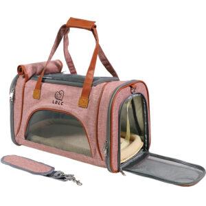 Best Leather Pet Handbag With Large Side Window MFB35