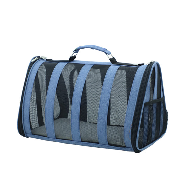 Breathable Grid Model Portable Pet Bag MFB42_3