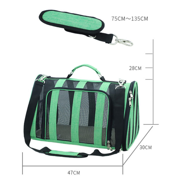 Breathable Grid Model Portable Pet Bag MFB42_5