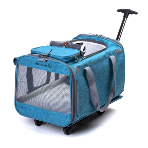 Perfect Pet Trolley Bag Rolling Carrier MFB38_6