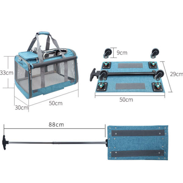 Perfect Pet Trolley Bag Rolling Carrier MFB38_7