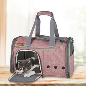 Breathable Leather Pet Handbag With Transparent Side Window MFB53