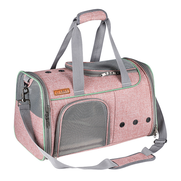 Breathable Leather Pet Handbag With Transparent Side Window MFB53_7
