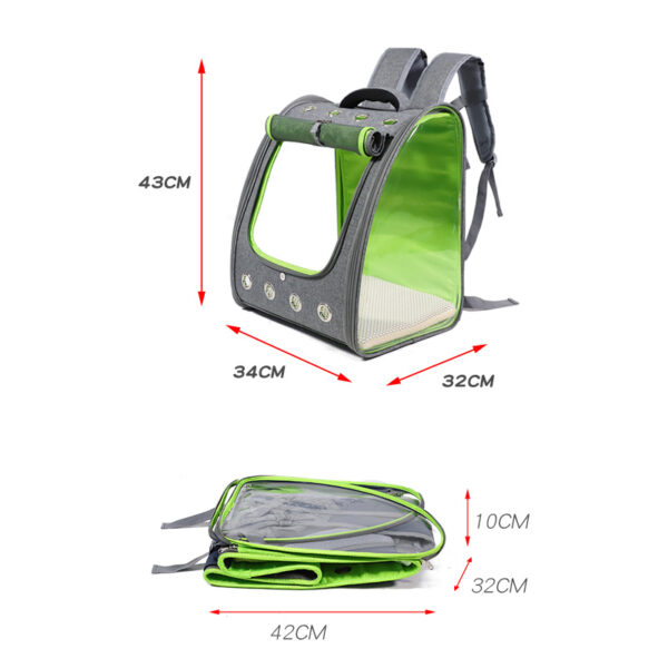 Breathable Porous Pet Backpack Carrier MFB45_7