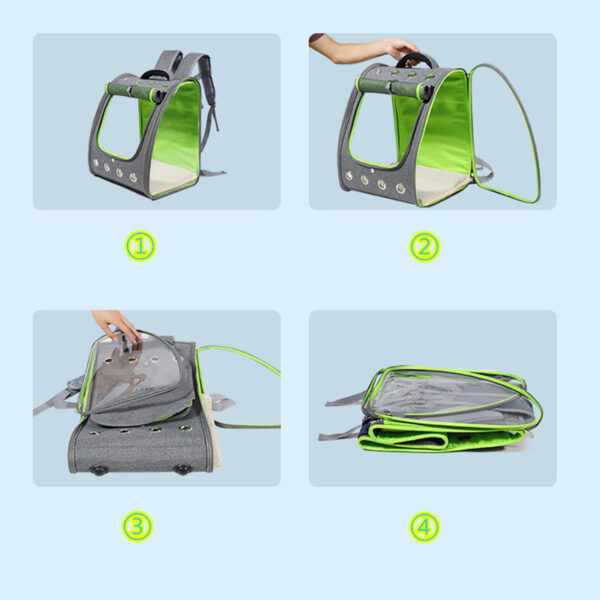 Breathable Porous Pet Backpack Carrier MFB45_8