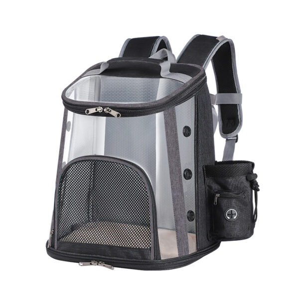 Luxury Pet Transparent Airline Approved Backpack Carrier MFB55_3