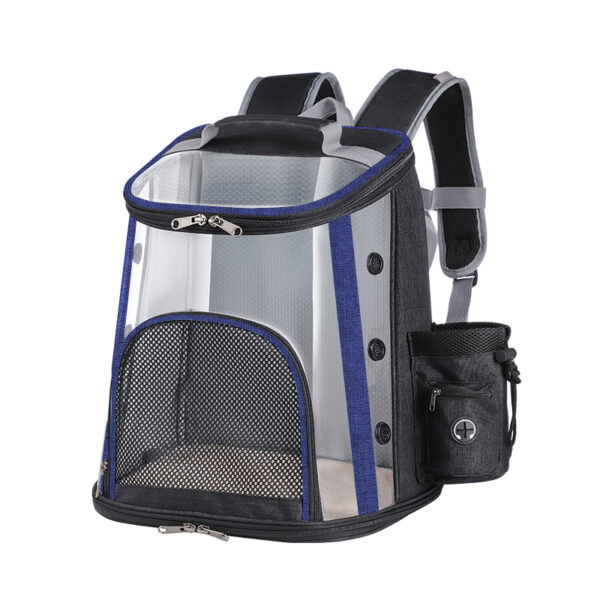 Luxury Pet Transparent Airline Approved Backpack Carrier MFB55_4