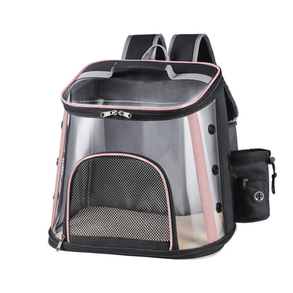 Luxury Pet Transparent Airline Approved Plus Size Backpack Carrier MFB56_2