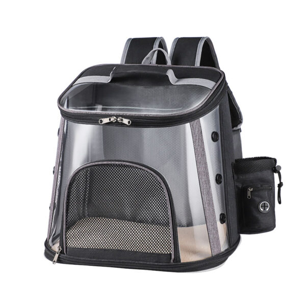 Luxury Pet Transparent Airline Approved Plus Size Backpack Carrier MFB56_4