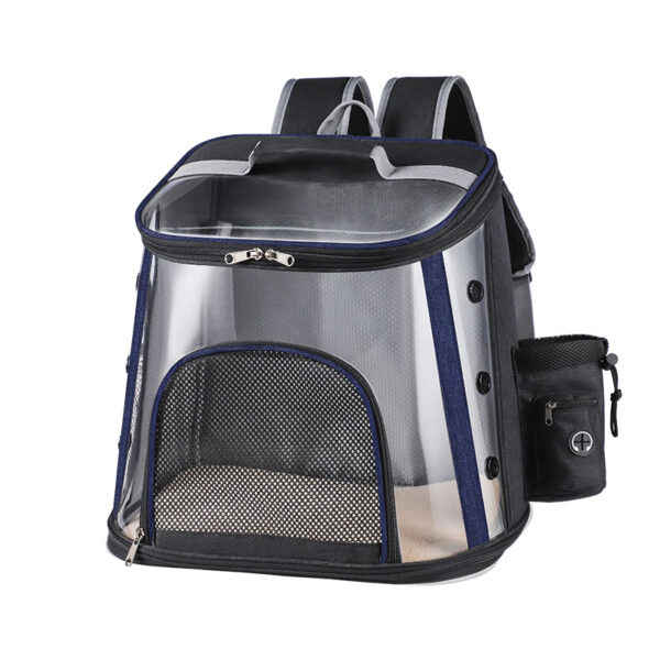 Luxury Pet Transparent Airline Approved Plus Size Backpack Carrier MFB56_5