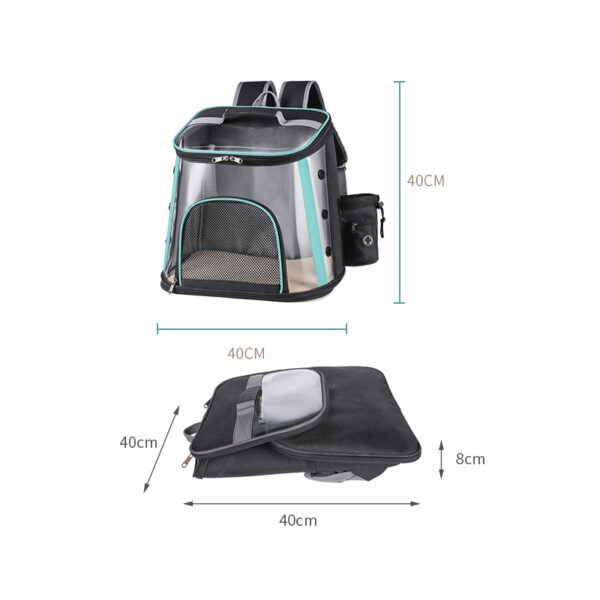 Luxury Pet Transparent Airline Approved Plus Size Backpack Carrier MFB56_7