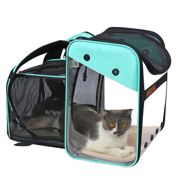 Breathable Dog Cat Backpack Pet Carrier With Extra Room MFB50_2