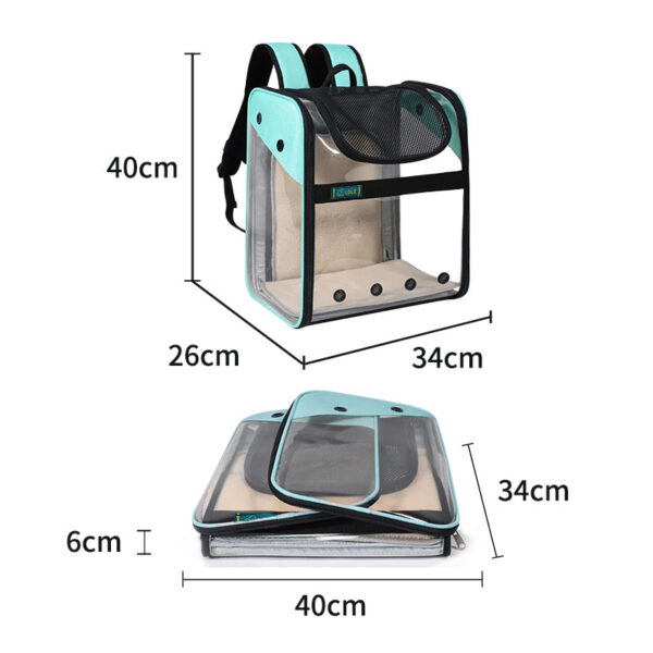 Breathable Dog Cat Backpack Pet Carrier With Extra Room MFB50_6