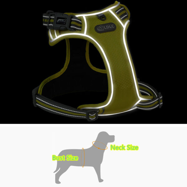Nonslip Adjustable Pet Chest With Reflective Strap MFB49_4