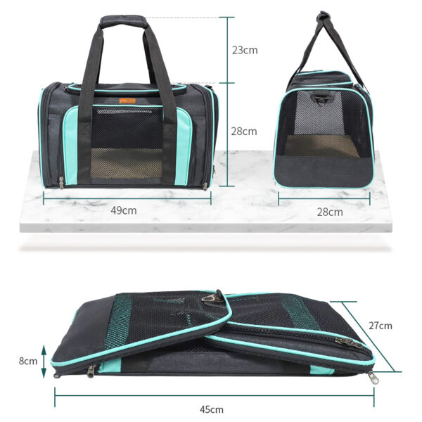 Airline Approved Soft Sided Pet Carrier With Removable Pad MFB51_4