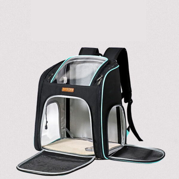 Cat Backpack Carrier With Side Hole That Can Touch Cat MFB58_5