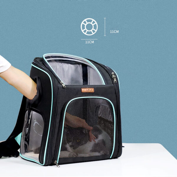 Cat Backpack Carrier With Side Hole That Can Touch Cat MFB58_7