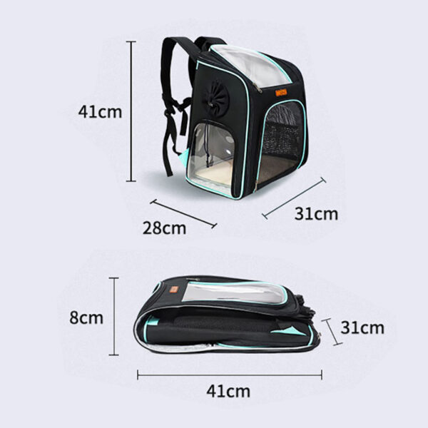 Cat Backpack Carrier With Side Hole That Can Touch Cat MFB58_8
