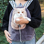 Breathable Porous Pet Backpack Carrier With Front Pocket MFB44