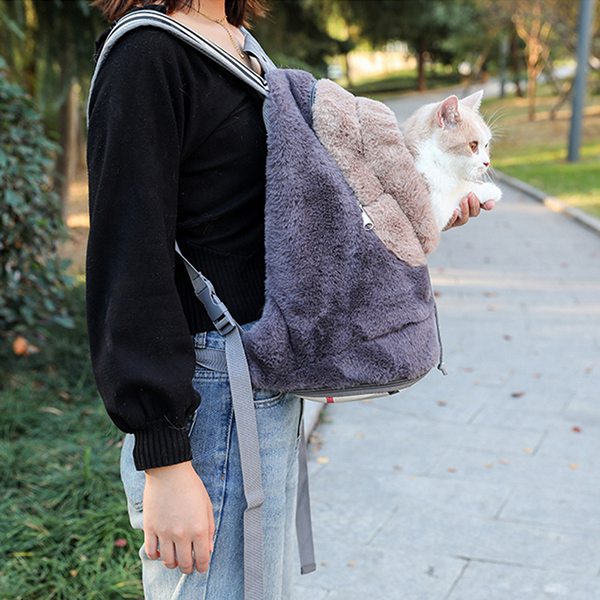 Breathable Porous Pet Backpack Carrier With Front Pocket MFB44_3