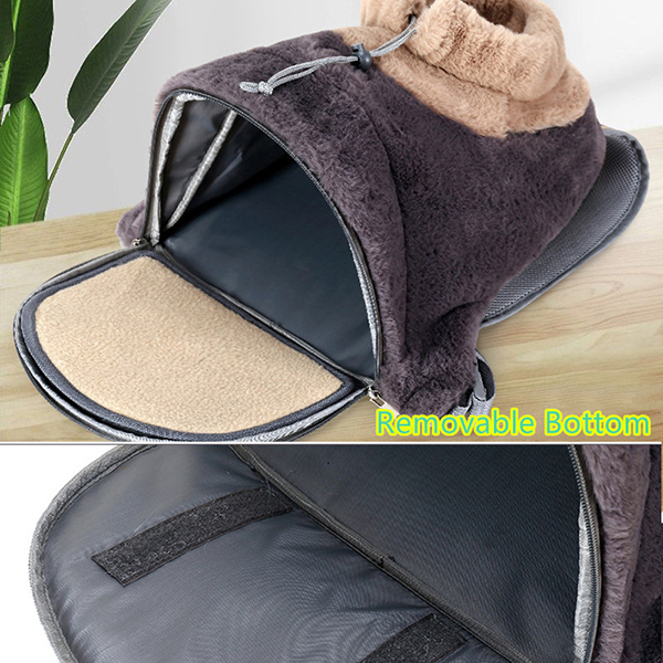 Breathable Porous Pet Backpack Carrier With Front Pocket MFB44_6